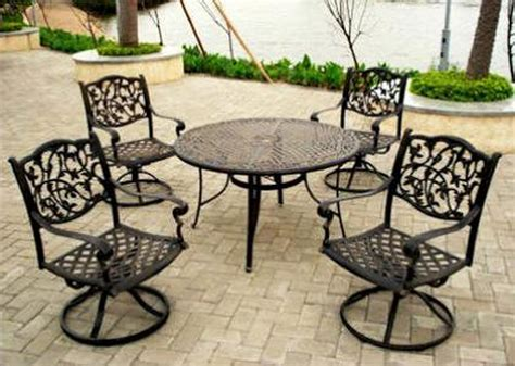steel or aluminum patio furniture metal patio furniture inertiahome
