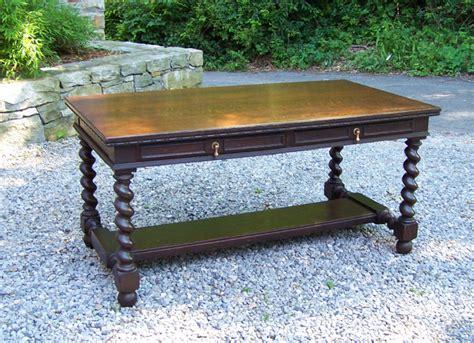 ori furniture cost 8163 j b van sciver co oak library desk c1900 for sale