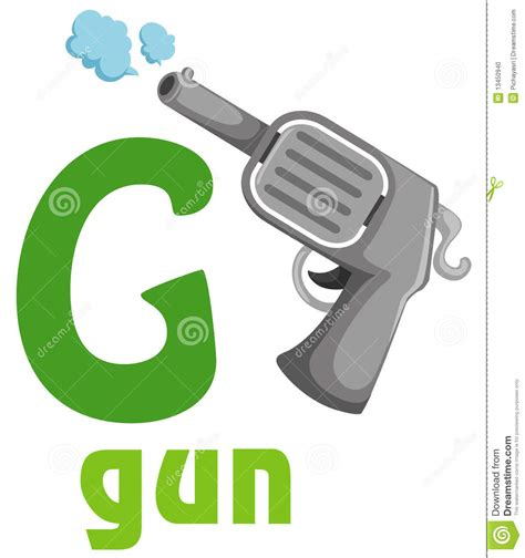 the abcs of guns books alphabet g stock photo image 13450940