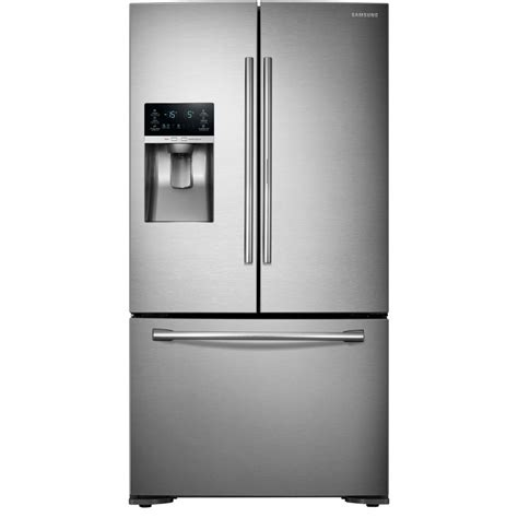 lowes samsung door refrigerator samsung rf23htedbsr aa 22 5 cu ft counter depth