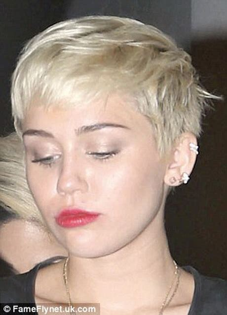 the name of mileys haircut miley cyrus short spiked punk miley cyrus short haircut