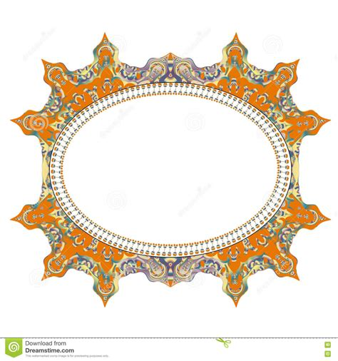 indian pattern frame vintage cards frame with floral mandala pattern and