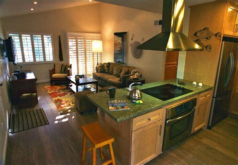 Kitchen With Living Room Design Open Kitchen In Small House Home Design By