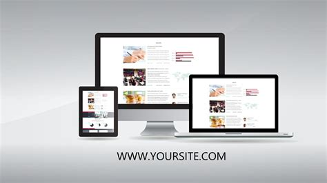 website presentation promo template sony vegas 12 13