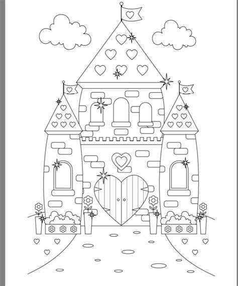 castle coloring page princess castle colouring page castle coloring pages
