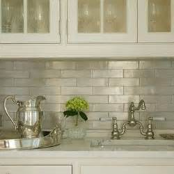 ivory subway tile backsplash iridescent kitchen backsplash design decor photos