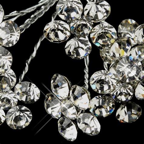 Wedding Bouquet Jewelry Stems by Silver Clear Flower Bridal Bouquet Jewelry 706