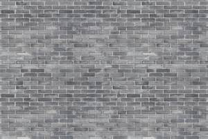 Open Kitchen And Dining Room grey brick wallpaper mural murals wallpaper