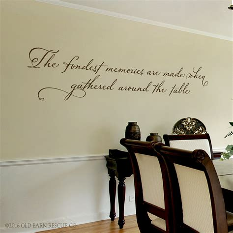 wall decals for dining room dining room wall decal the fondest memories are made when