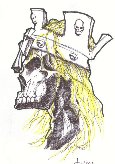 triple h skull by geoq on deviantart