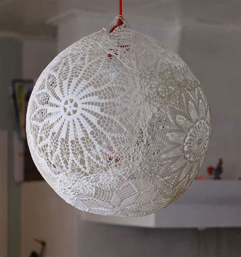 Doily Chandelier 21 Diy Ls And Chandeliers Made Of Everyday Objects