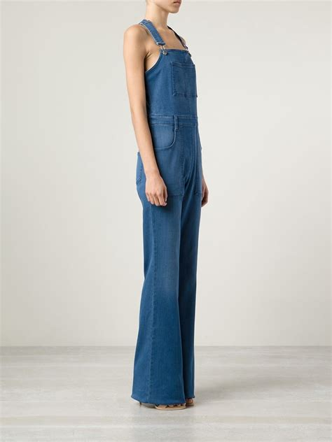 Overall Jumpsuit Overall lyst stella mccartney denim overall jumpsuit in blue