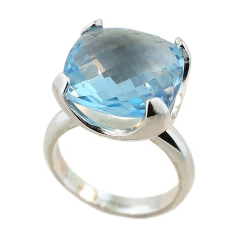 sterling silver blue topaz ring cameron jewellery