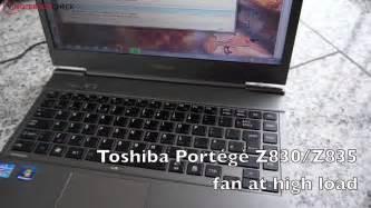 toshiba port 233 g 233 z830 z835 fan noise