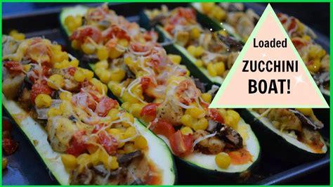 stuffed zucchini boats healthy healthy stuffed zucchini boats youtube