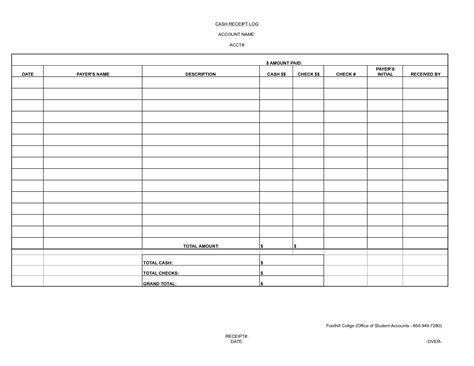 cash template   28 images   7 cash receipt form xavierax, the gallery for gt petty cash log