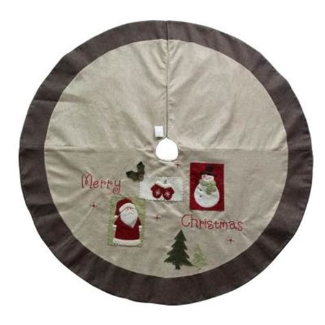 home accents holiday 54 in burlap christmas tree skirt tc