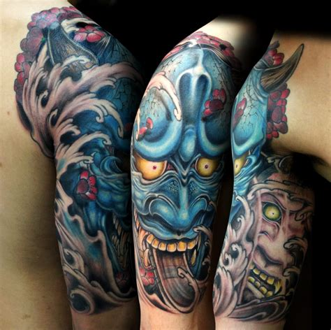 my tattoo alhambra hannya and namanari done by kashu horishin my