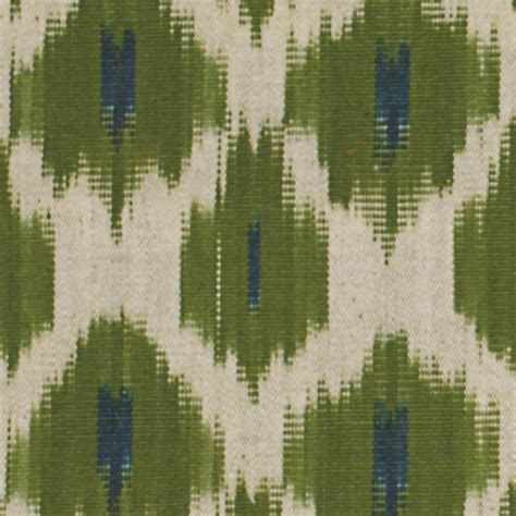 Ikat Pinggang Tali Rope Weave Tassel flowers on water ikat fabric parrot no chintz textiles and soft furnishings