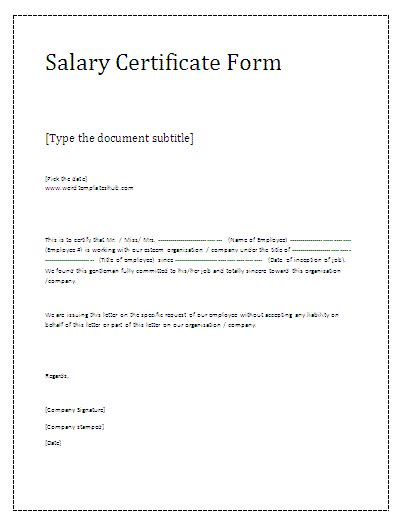 Salary Appraisal Letter Sle Salary Certificate Letter 28 Images Salary Certificate Templates For Excel Pdf And Word Sle