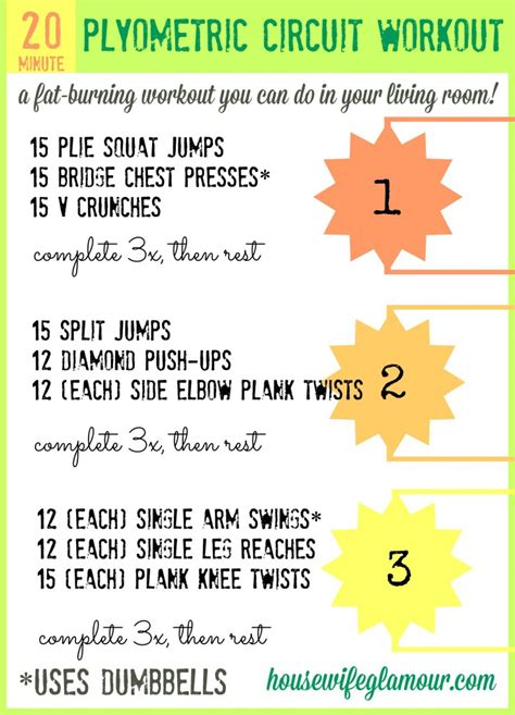 20 min plyometric circuit workout in