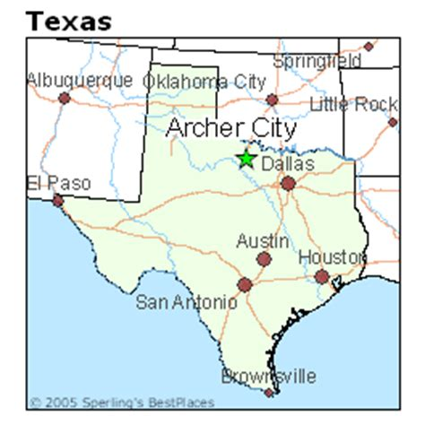 archer city texas map best places to live in archer city texas