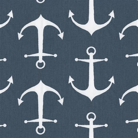 Navy anchors fabric by the yard navy fabric carousel designs