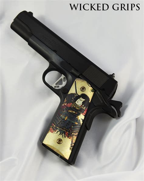 Handmade Gun Grips - custom 1911 grips samurai grips