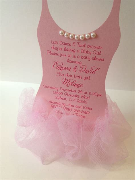 Baby Shower Invites For by Ballerina Baby Shower Ideas Baby Ideas