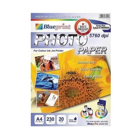 Blueprint Photo Paper 230 Gsm A4 10 Sheet Kertas Foto jual blueprint photo paper glossy a4 230 kertas foto