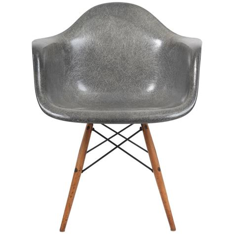 eames fiberglass chair markings 1950s herman miller grey zenith manufactured rope edge