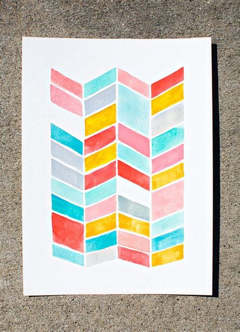 watercolor geometric pattern original arrows watercolor painting geometric pattern