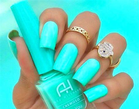 neon color nails neon teal nails pictures photos and images for