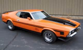 orange 1971 ford mustang fastback mustangattitude