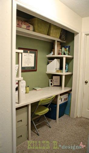 desk inside a closet closet desk diy projects crafts