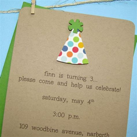 Handmade Birthday Invites - 1st birthday invitations handmade polka dot recycled