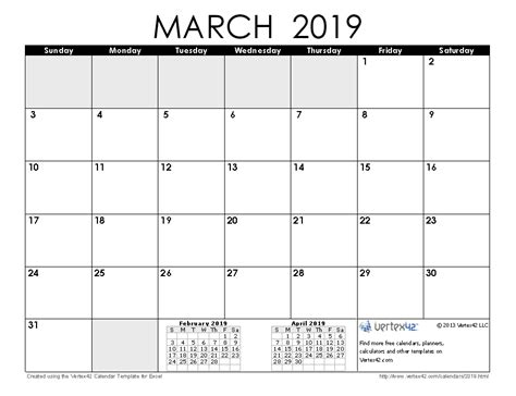 Calendar 2019 March 2019 Calendar Templates And Images