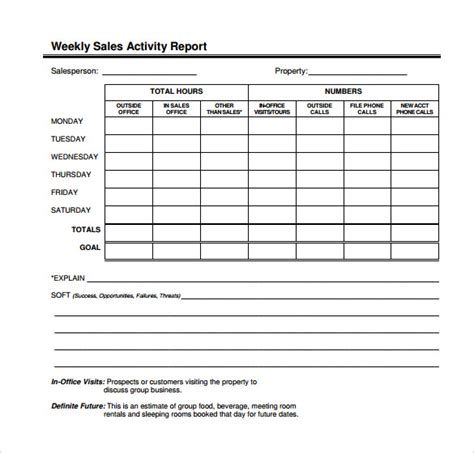 Weekly Cash Report Template