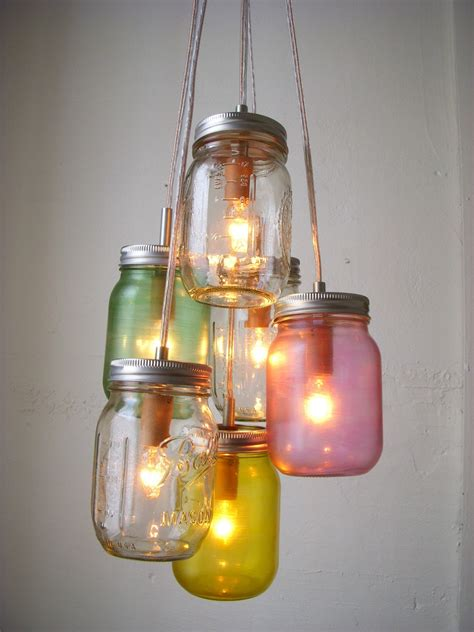 Mason Jar Chandelier Rustic Hanging Mason Jar Pendant A Jar Chandelier