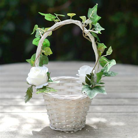 design a flower basket flower girl garden rose ivy flower girl basket