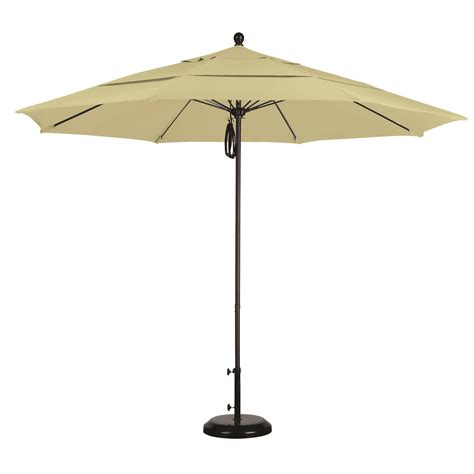 11 Ft Sunbrella Pulley Patio Umbrella With Bronze Pole Patio Umbrella Pole