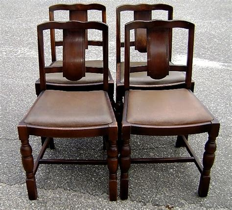 Country Furniture For Sale by Antique 1910 S Set Of 4 Country Oak Chairs For