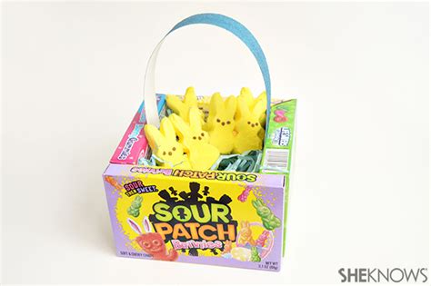 edible easter baskets easy easter craft hip2save easter candy craft candy carrot treat bags sheknows com