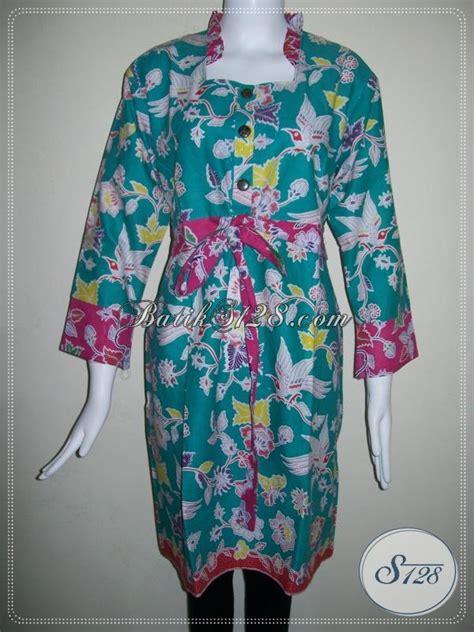 Baju Warna Hijau Kombinasi dress batik wanita warna hijau kombinasi merah tali pinggang cantik model baju batik modern 2018