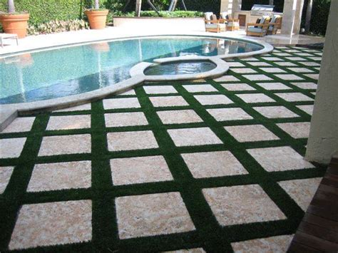 Patio Grass by Florida Pool Deck And Patio Areas With Easyturf