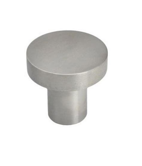 solid stainless steel knob pull brushed