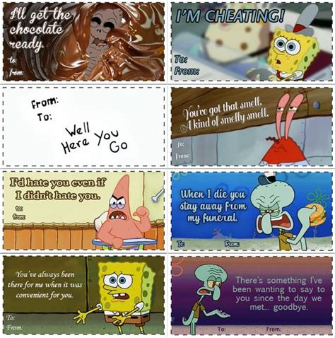 spongebob valentines day cards spongebob valentines spongebob