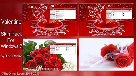 valentine theme for windows 8 1 valentine skinpack for windows 7