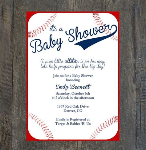 baseball invitation template baby shower invitation baseball by silhouettedesign on