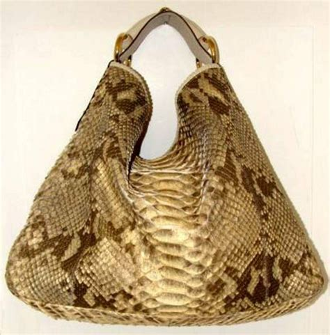 Gucci Python Bag by Gucci Snakeskin Hobo Bag In Pearl And Metallic Python At